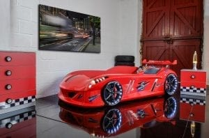 Thunder Race Car Bed - Red