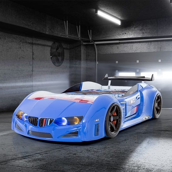 Bmw: M Sport Race Car Bed In BLUE With Spoiler